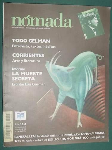 revista nomada 9 -2/08- especial poeta escritor juan gelman