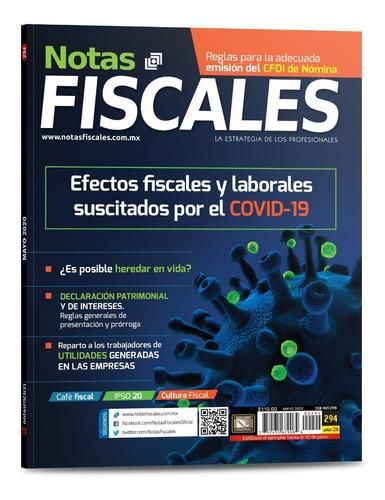 revista notas fiscales 294 mayo 2020 formato impreso