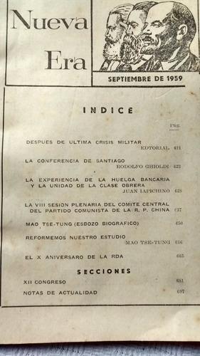 revista nueva era nº 8 - setiembre de 1959 año xi ed. anteo