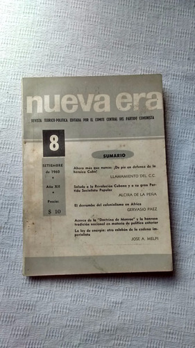 revista nueva era nº 8 - setiembre de 1960 año xii ed. anteo