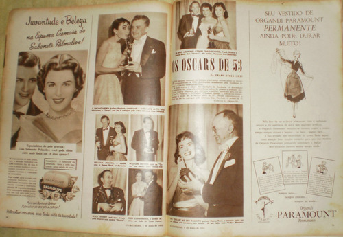 revista o cruzeiro 1954 jane russel - cannes