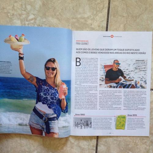revista o globo 14.3.2015 pé-limpinha na areia ludmilla