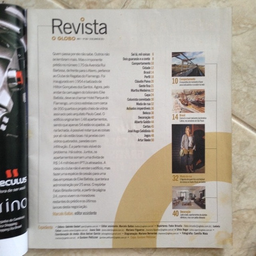 revista o globo 360 19/06/2011 eike batista prédio flamengo