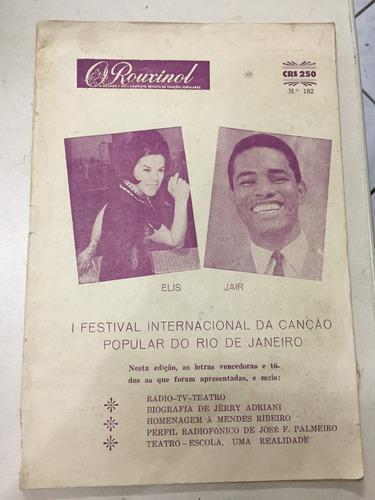 revista o rouxinol nº 182 novembro 1966 música