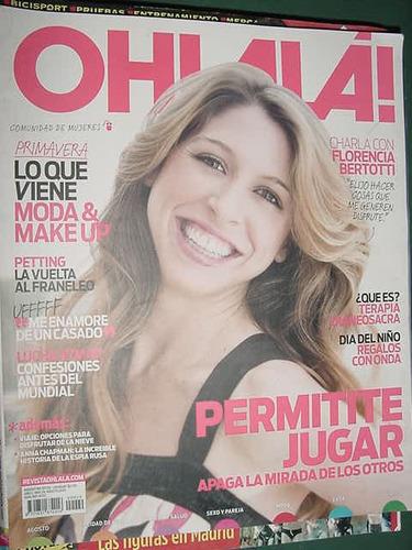revista ohlala! 8/10 florencia bertotti petting lucha aymar
