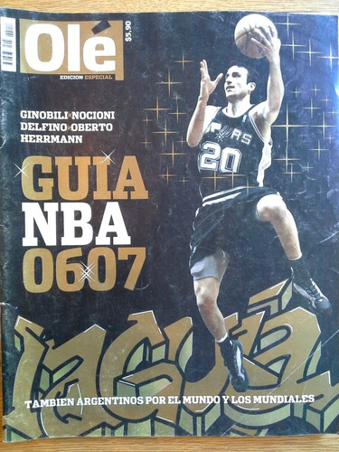 revista ole edicion especial nba 06-07 manu ginobili