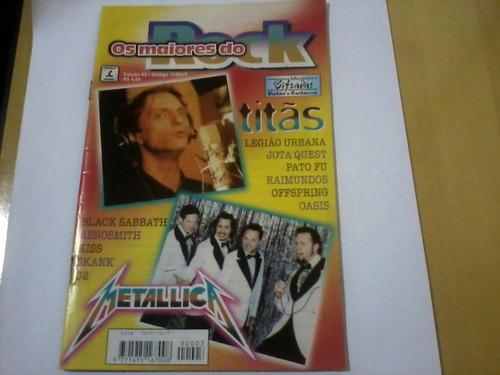 revista os maiores do rock nº3 titãs metallica