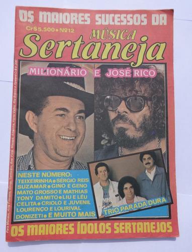 revista: os maiores sucessos da música sertaneja nº 12 -1985