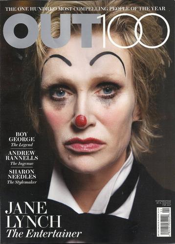 revista out: jane lynch / andrew reynolds / mika / elton joh