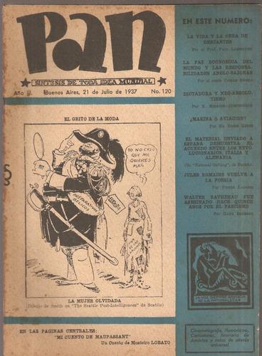 revista pan nº 120 sintesis de toda idea mundial 21/07/1937