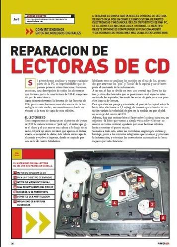 revista para reparar cdrom - cdrw  - dvd - dvdrw