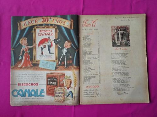 revista para ti año 1944 / eva duarte actriz / eva peron