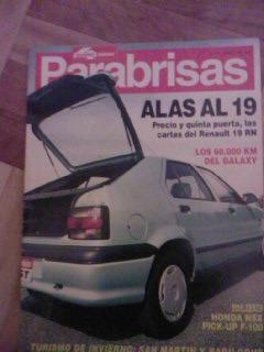 revista parabrisas año 1993 num 176 esp renault 19 - f100xlt