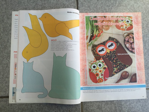 revista patch apliquê bolsa pegador moldes almofada n°2