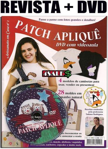revista patch aplique vídeo aula artesanato roupa curso
