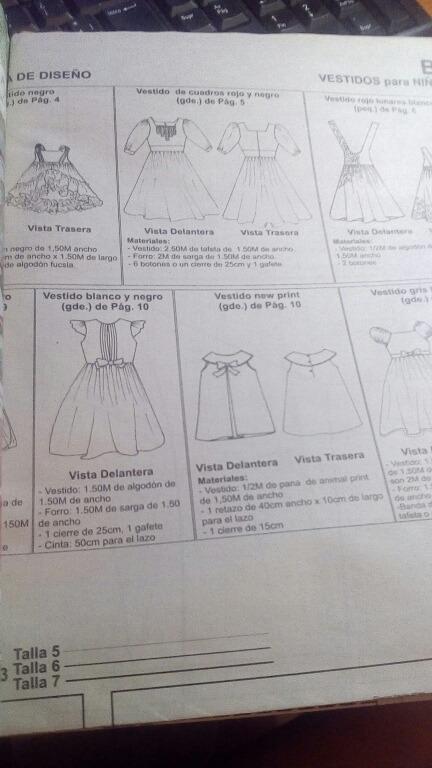 Revista Patrones Costura Vestidos Niña - Bs. 0,40 en Mercado Libre