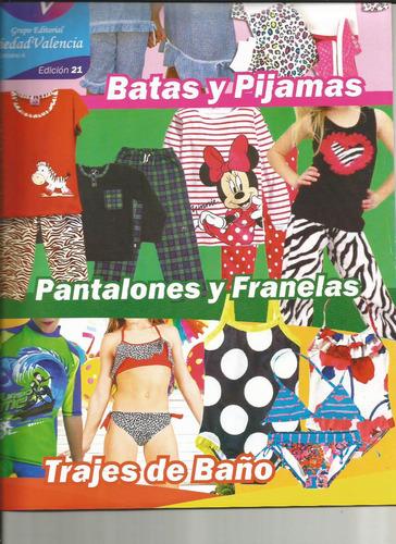 revista patrones piedad #21 batas,pijamas,pantalon,franela
