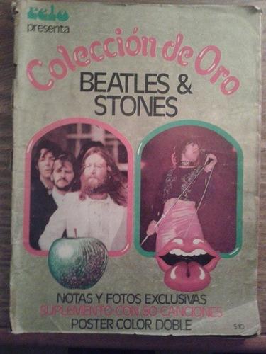 revista pelo. especial beatles - stones. colección de oro.