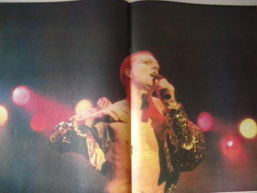 revista pelo nº 374. elton john. poster de erasure