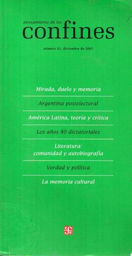revista pensamiento de los confines 21 - diciembre 2007