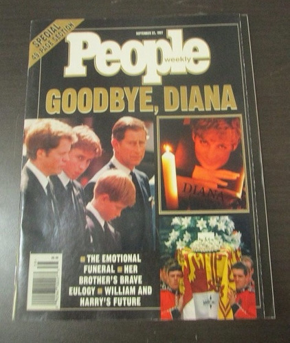 revista people goodbye princesa diana sept 1997
