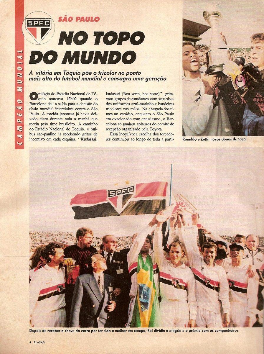 690db36b368 Revista Placar Digitalizada Edição Dos Campeões 1992 - R  9