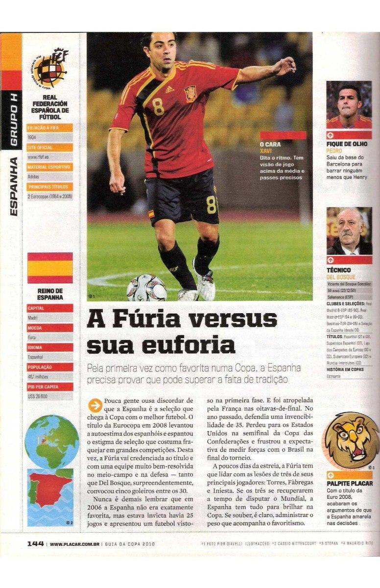 revista placar digitalizada guia da copa do mundo 2010. Carregando zoom. b568dd85c20fb