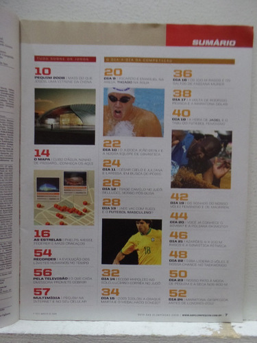 revista placar guia de pequim 2008