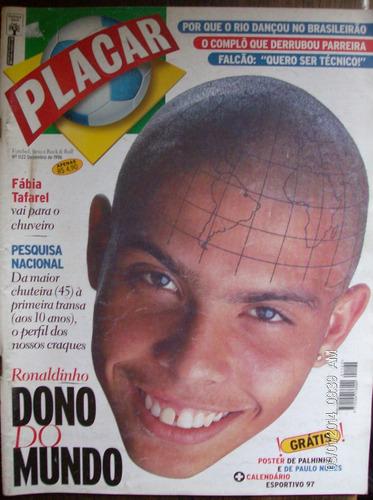 revista placar n- 1122 ronaldinho dono do mundo