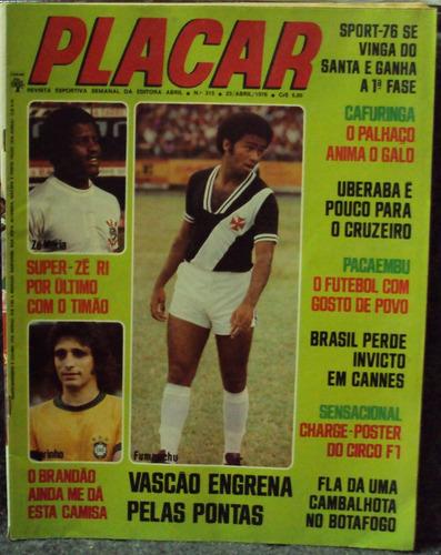 revista placar nº315 23/abril/1976(frete grátis)