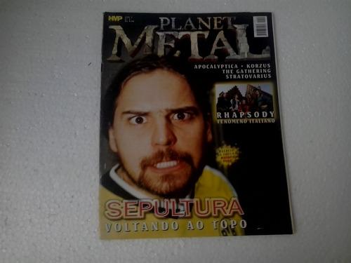 revista planet metal ano 1 nº 3 - sepultura voltando ao topo