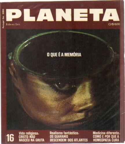 revista planeta nº 16 - dezembro/1973 - editora três