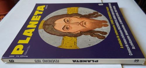 revista planeta nº 6 fevereiro de 1973  rara