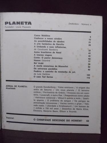 revista planeta n°4  - 1972 - o chipanzé depende do homem?