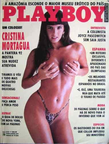revista playboy - cristina mortagua nº 202 - maio de 1992
