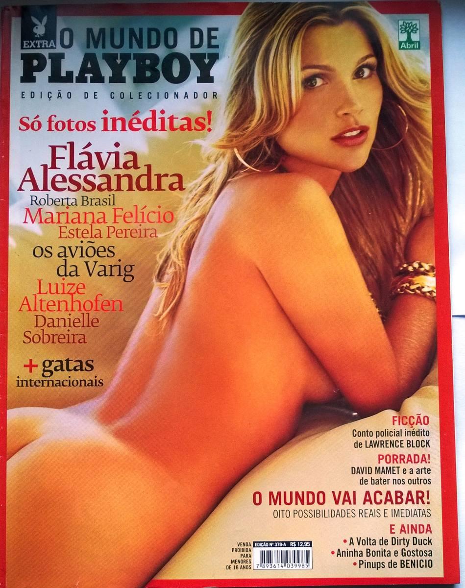 Flavia Playboy revista playboy- flávia alessandra- n°382