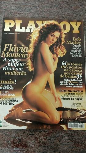 revista playboy flávia monteiro maio 2005