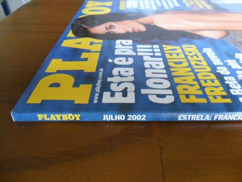 revista playboy franciely freduzeski julho de 2002