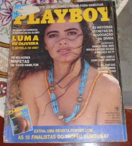revista playboy luma de oliveira setembro 1987 poster