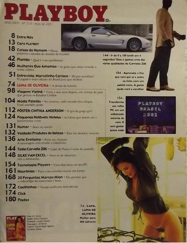 revista playboy nº 310 mai/01 . luma de oliveira (a)