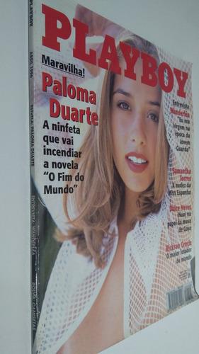 revista playboy paloma duarte  - abril 1996