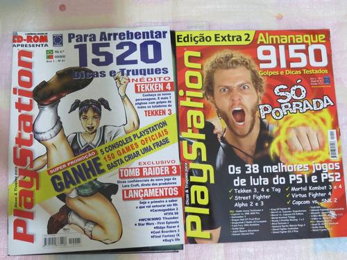 revista playstation nº 1 e 2 raridade