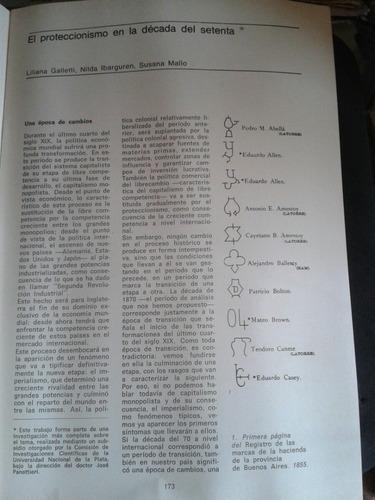 revista polémica proteccionismo y desarrollo década del 70