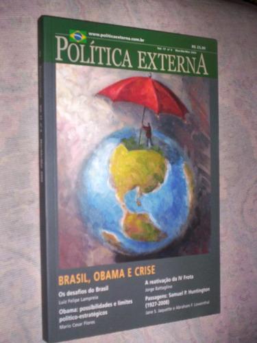 revista politica externa  obama brasil e crise