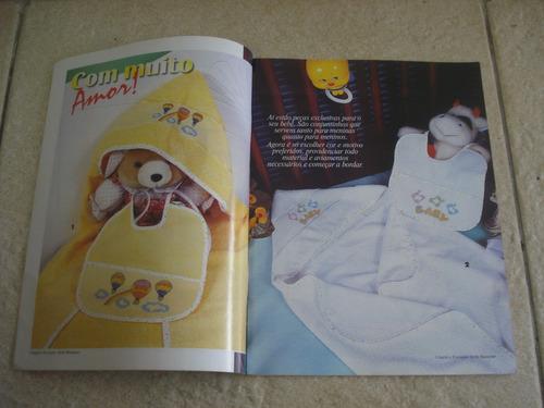 revista ponto de cruz decorativo cama mesa banho infantis