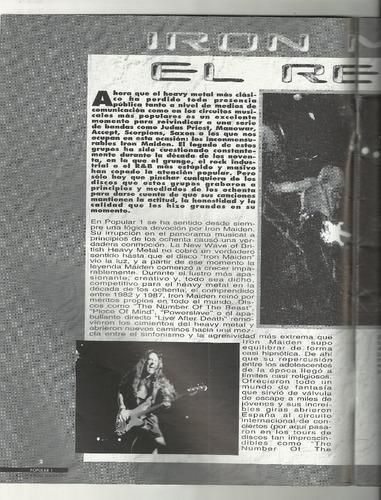 revista popular 1 rock & roll especial iron maiden, poster