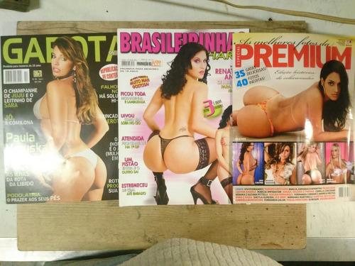 revista porno  lote com 3 revistas