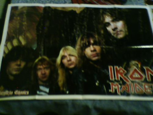 revista poster iron maiden n°170 show mix