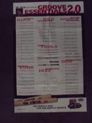 revista poster partitura vick firth goove essentials 2.0