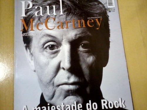 revista poster paul mccartney nº3 a majestade do rock